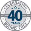 Bound Tree 40 Years Logo