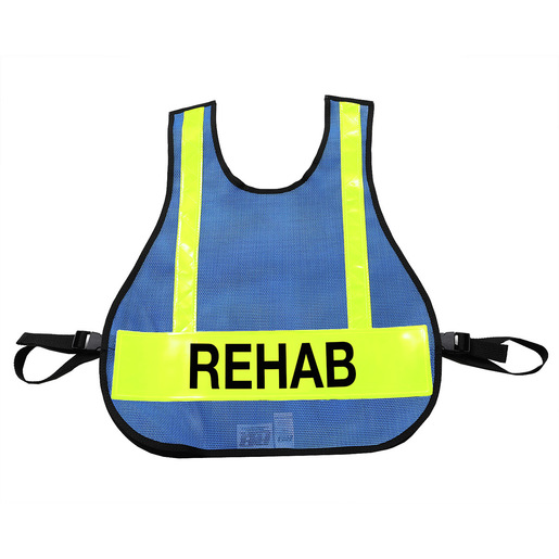 Royal Blue Vests with Reflective Strips for IC Triage/MC System
