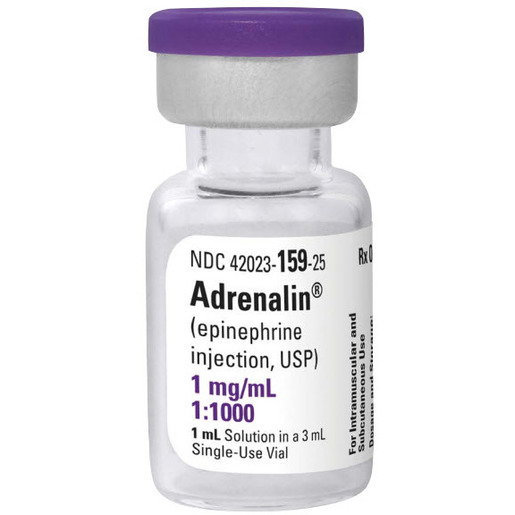 *Box Quantity* Adrenalin (Epinephrine) 1mg, 1ml Vial (1:1000)