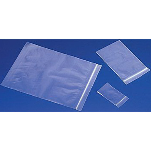 Reclosable Bag, 4in L x 3in W, Clear, Polyethylene, Reclosable