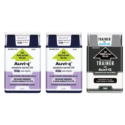 Auvi Q 0.1mg, 2 Pack, Plus Trainer