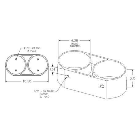 Double Cylinder Wall or Floor Mounts