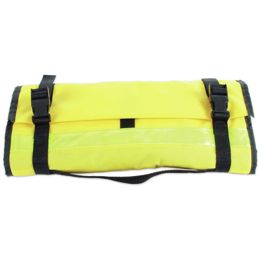Curaplex® Intubation Case, Neon Yellow, Quick-Release Buckles and Elastic Loops