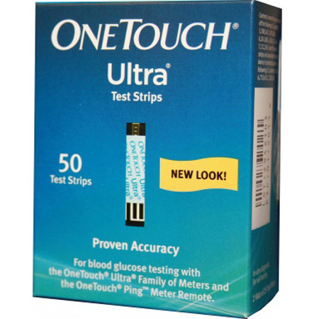OneTouch® Ultra® Blood Glucose Test Strips, 5 sec Test Time