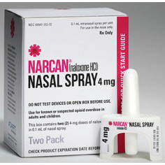Nasal Narcan Spray, 4mg, 0.1ml (Naloxone)