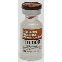 *Box Quantity* Heparin Solution, 1mL, 10,000 Units/mL