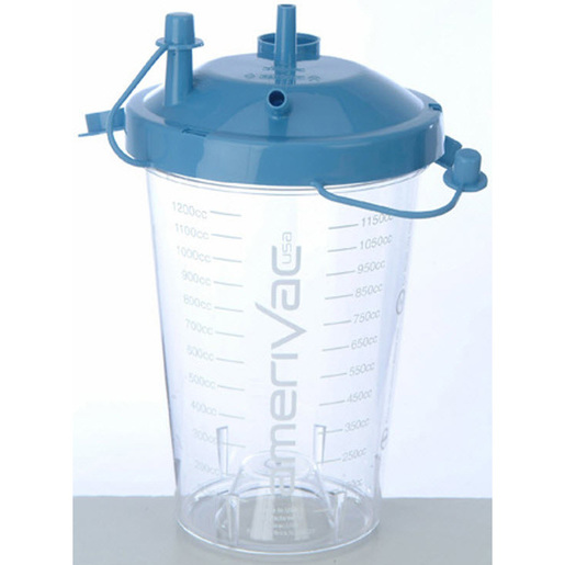 *Discontinued* Suction Canister, Blue, 1200cc