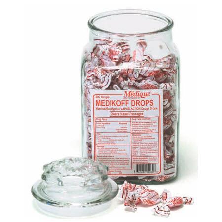 Medikoff Throat Lozenges, 7.6mg, Cherry Flavor, 75 Lozenges