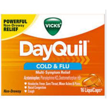 Vicks DayQuil Cold & Flu Liquid Capsules, 16 Capsules