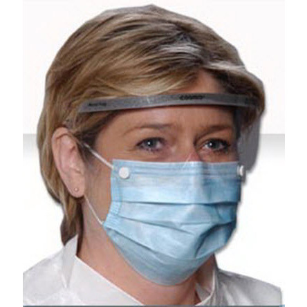 Critical Cover® Combo® Masks with Shield and Earloop, Blue *Non-Returnable and Non-Cancelable*