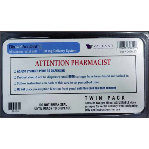Diastat Accudial, Class IV, 10mg Twinpack Gel *Non-Returnable and Non-Cancelable*