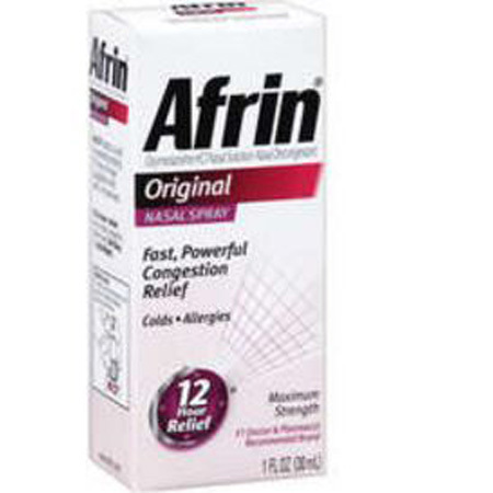 Afrin Nasal Spray, 0.05%, 30mL
