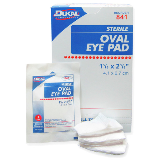 Sterile Oval Eye Pads, 1-5/8in x 2-5/8in
