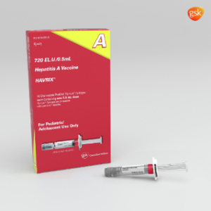 Havrix® Pediatric, Hepatitis A Vaccine, Prefilled Syringe w/o Needle, 0.5ml