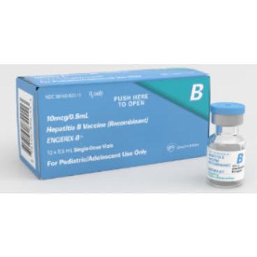 *Discontinued* Engerix-B® Hepatitis B Vaccine, 10mcg, 0.5mL Vial *Non-Returnable*