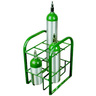 Cylinder Stand, 19-1/2in x 15in x 12in, Green