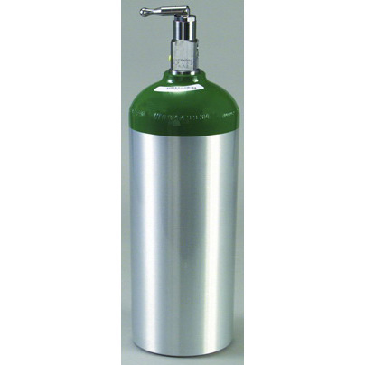 Oxygen Cylinder Tank, Aluminum, Toggle Valve, Size D