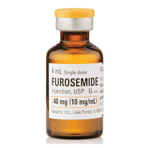 Furosemide Injection, USP 40mg/4mL (10 mg/mL) 4mL vial