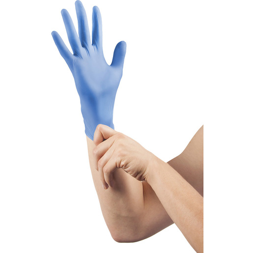 Curaplex® TritonGrip SE™ Nitrile Exam Gloves, Blue, Large