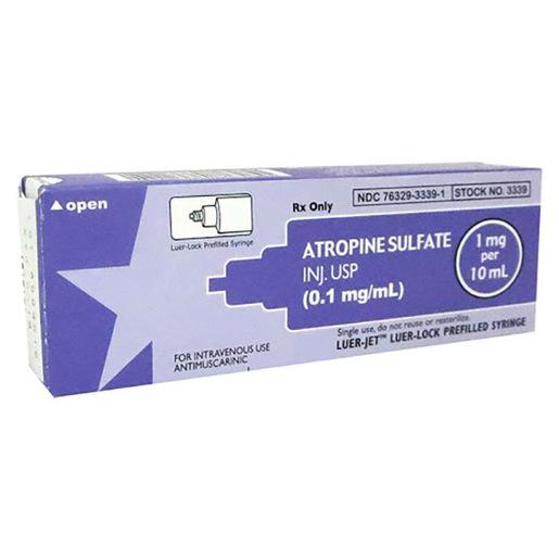 Atropine Sulfate Inj. USP (0.1 mg/mL) 1 mg per 10 mL Luer-Jet™ Syringe