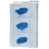Glove Box Dispenser, 8.16 H x 16.32 W x 3.7in D, White, Coated Wire