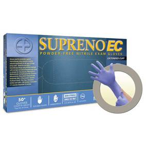 *Limited Quantity* Cuff First™ Supreno® EC Exam Gloves, Blue, Small