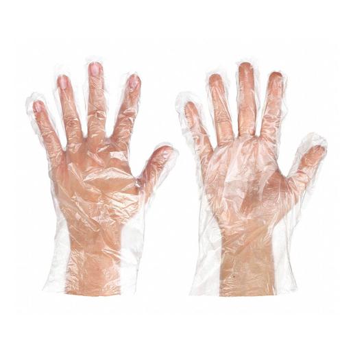 Ambitex Polyethylene Gloves, Clear, XL