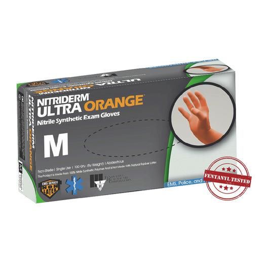 NitriDerm® Ultra Orange™, Nitrile Exam Gloves, Powder Free