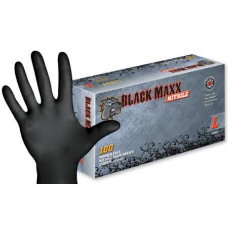 Black Maxx Nitrile Gloves