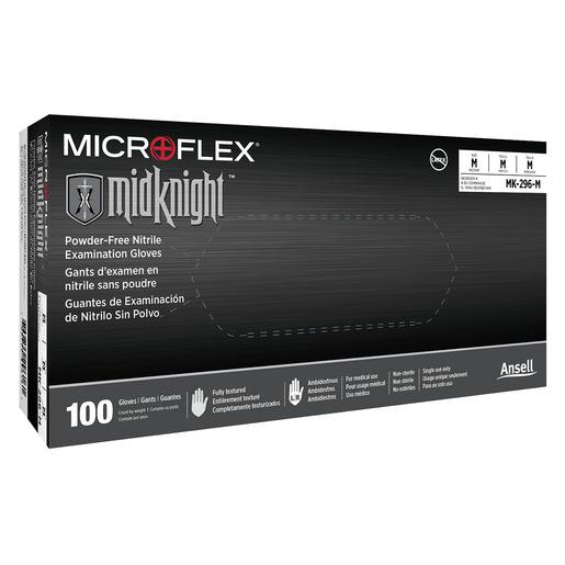 MidKnight® Nitrile Exam Gloves, Black, XS