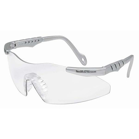 *Limited Quantity* Smith and Wesson Safety Glasses, Clear Lens, Platinum Frame