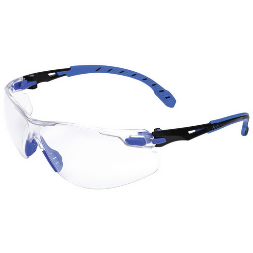 Solus Anti-Fog Safety Glass, Black/Blue, Clear *Non-Returnable and Non-Cancelable*