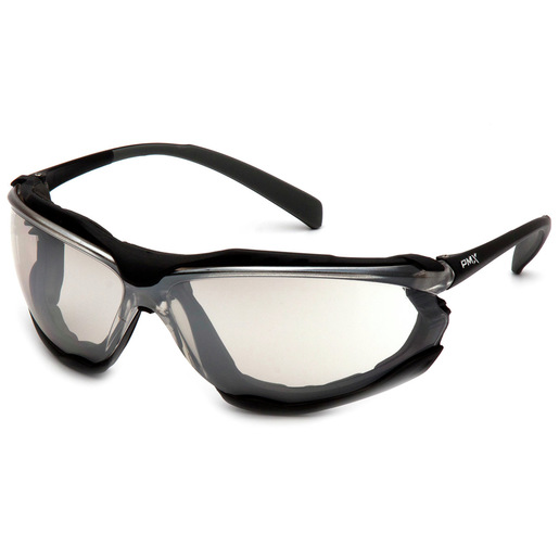 Pyramex Proximity Safety Glasses, Black Foam Lined