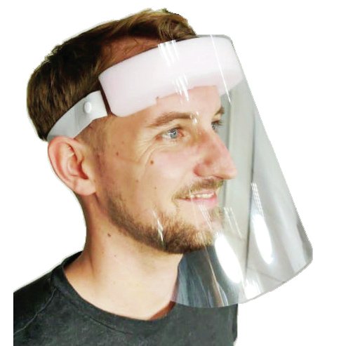 Full Face Shield, Elastic Strap *Non-Returnable*