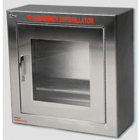 AED Cabinet Surface with Alarm, 17.5in H x 17.5in W x 7in D