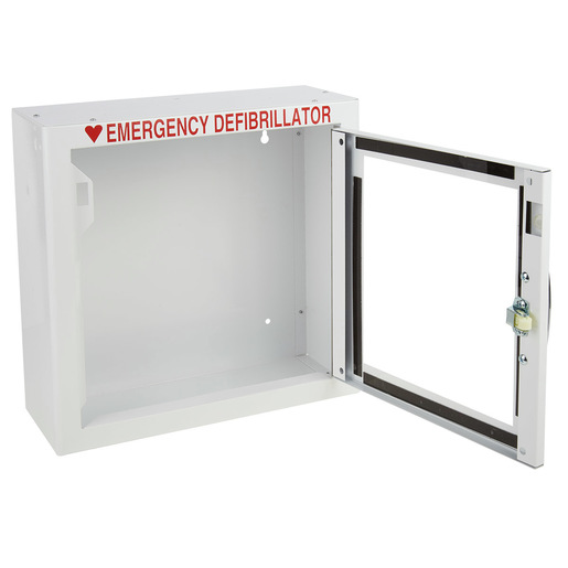 AED Cabinet Surface, 13in H x 13-1/2in W x 5-1/4in D, No Alarm