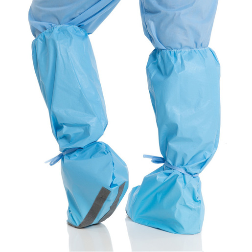 Hi Guard Regular Full Coverage Shoe Cover with Shoe and Lower Leg, Traction Strips, Blue, XL *Non-Returnable*
