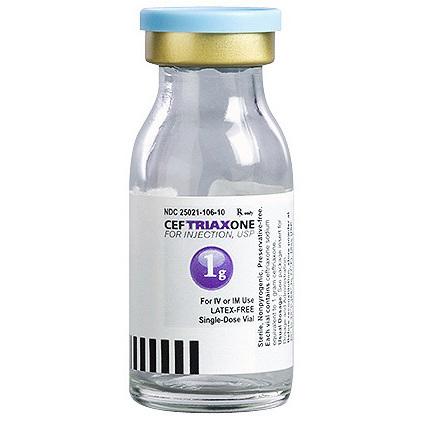 Ceftriaxone Vial, USP, 1g