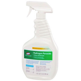Clorox® Healthcare® Hydrogen Peroxide Green Label Disinfectant Cleaner Spray Bottle, 32oz