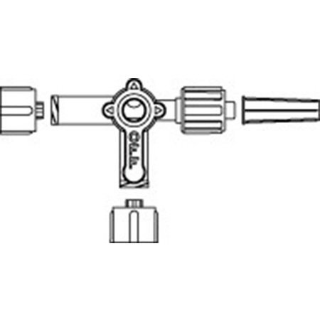 MEDEX™ Small Bore 3-way Stopcock, w/ Swivel Male Luer Lock
