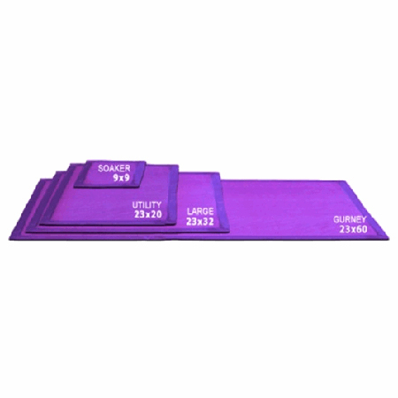 *Discontinued* Dripad™ Gurney Absorbent Pad, 23in x 60in, Purple