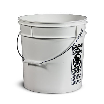 White Bucket, Hot stamped & Bailed