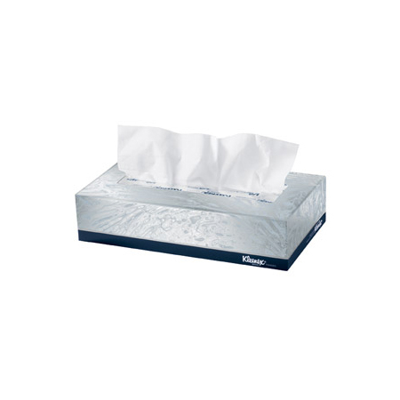 Kleenex® Facial Tissue, 8.4in L x 8in W, White