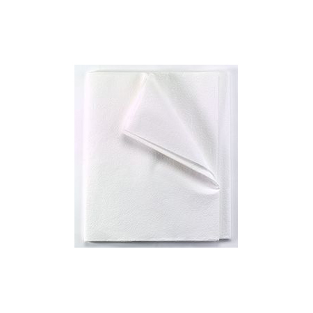 Drape/stretcher Sheet, 2-ply Tissue, White, 40in x 72in