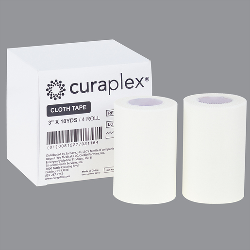 Curaplex® Cloth Tape, 3 in x 10 yds
