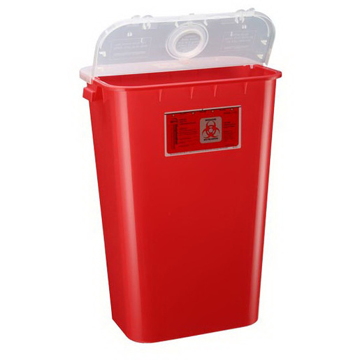 Sentinel Large Volume Sharps Container, 11gal, Red