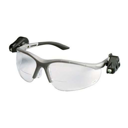 3M Light Vision 2 Protective Eyewear Clear Anti-Fog Lens, Gray Frame, +2.0 Diopt