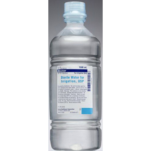 *Discontinued* Sterile Water Solution For Irrigation, 1500mL *Non-Returnable and Non-Cancelable*