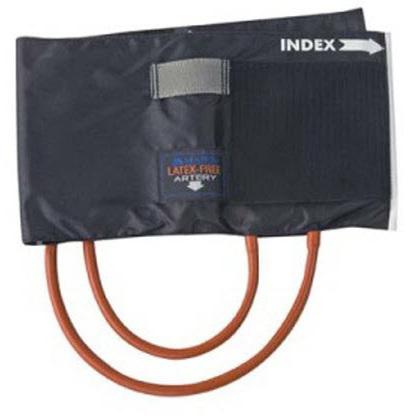 Reusable Blood Pressure Cuff with 2 Tube Bladder, Black, Child
