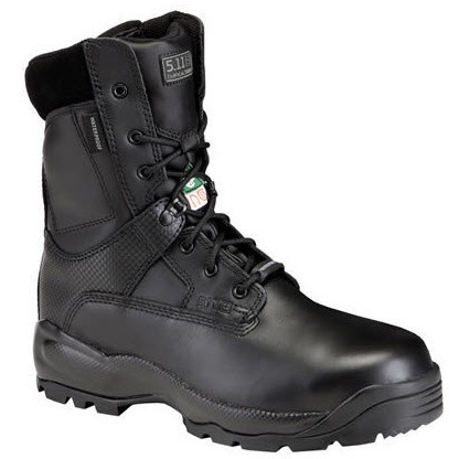 5.11® A.T.A.C.® Men's 8in Shield Boots with Side Zip, Black, 11.5 Size, Regular Width